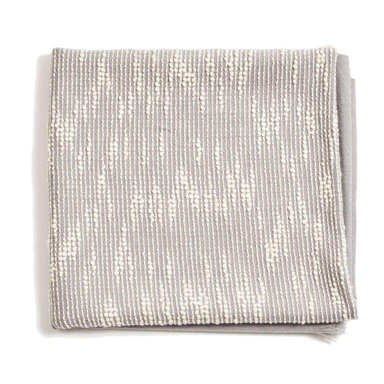 Modern FLO Grey Handloom Throw / Blanket For Sale