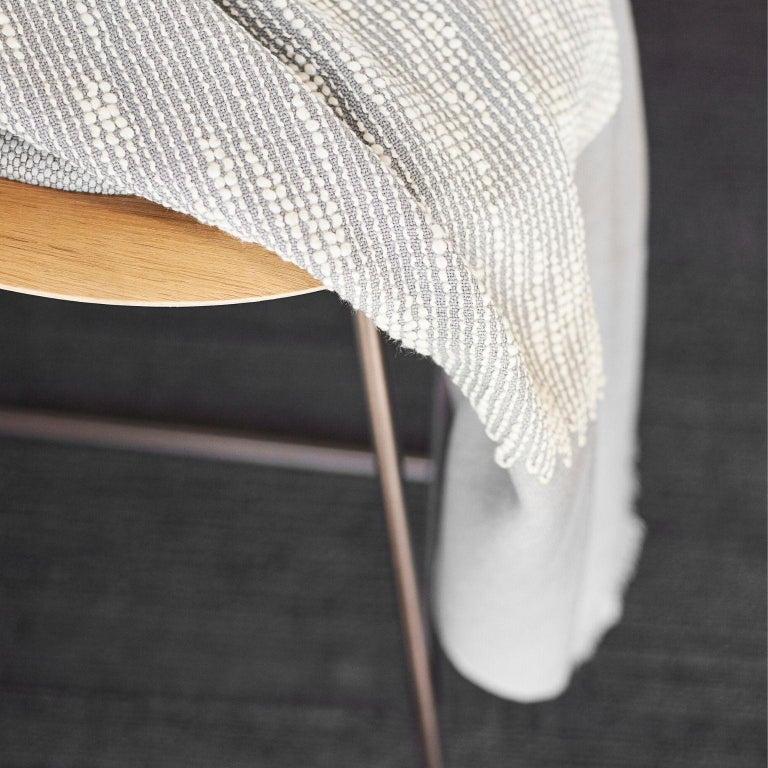FLO Grey Handloom Throw / Blanket In New Condition For Sale In Bloomfield Hills, MI