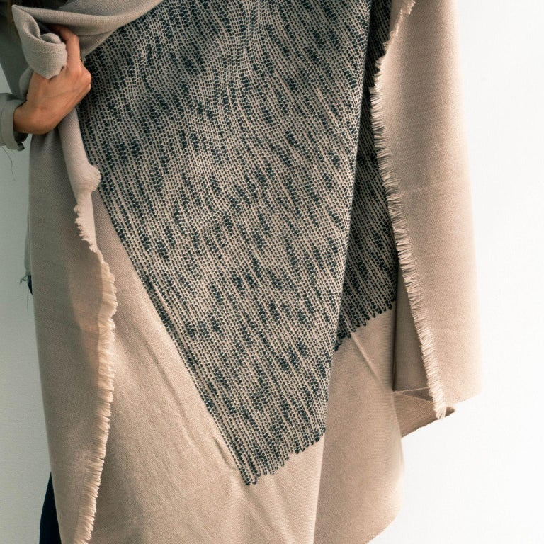 FLO Handloom Hand Embroidered Throw / Blanket  For Sale 1