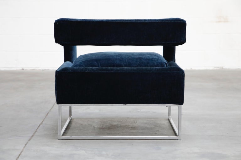 Floating Cubist Armchair by Flair for Bernhardt, Style of Milo Baughman, 1970s For Sale 3