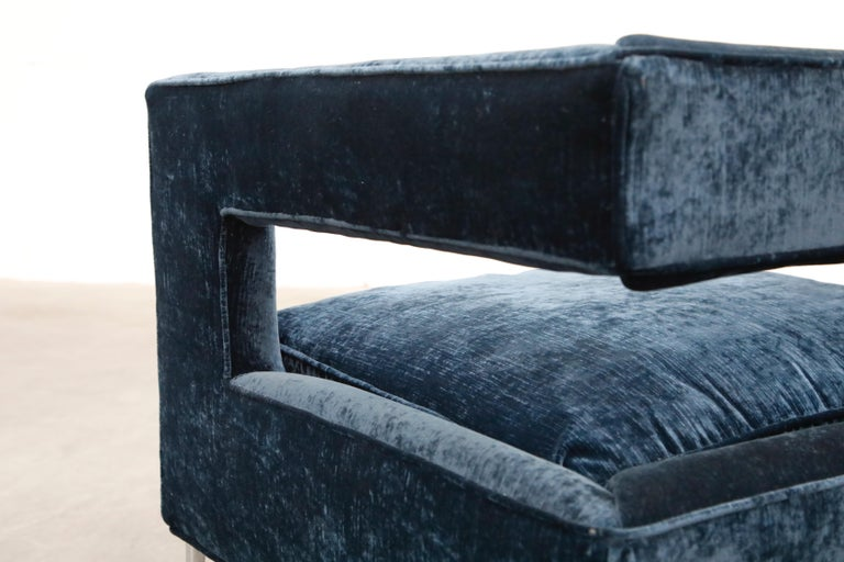 Floating Cubist Armchair by Flair for Bernhardt, Style of Milo Baughman, 1970s For Sale 8