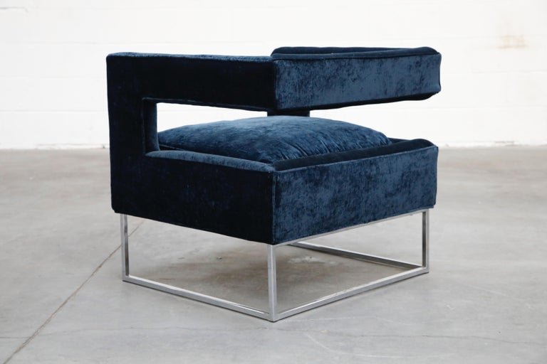 Floating Cubist Armchair by Flair for Bernhardt, Style of Milo Baughman, 1970s For Sale 1