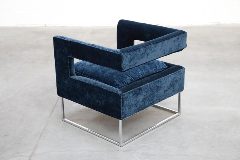 Floating Cubist Armchair by Flair for Bernhardt, Style of Milo Baughman, 1970s For Sale 2
