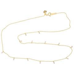 Floating Diamond 18 Karat Gold Choker Necklace