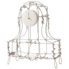 Floating Frames Mantel Clock Copper Sandblasted Nickel-Plated