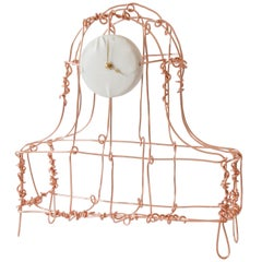 Floating Frames Mantelclock Copper
