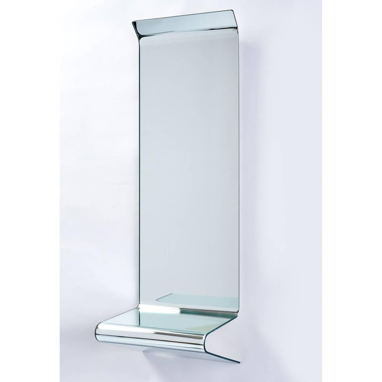 Modern Floating Mirrored Console by Fiam Italia For Sale