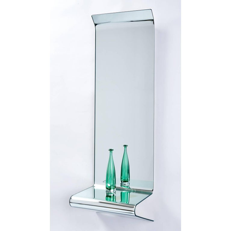 Italian Floating Mirrored Console by Fiam Italia For Sale