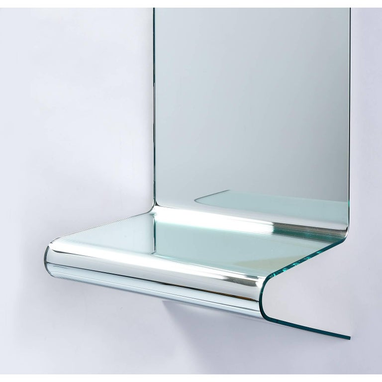 Floating Mirrored Console by Fiam Italia In Good Condition For Sale In New York, NY