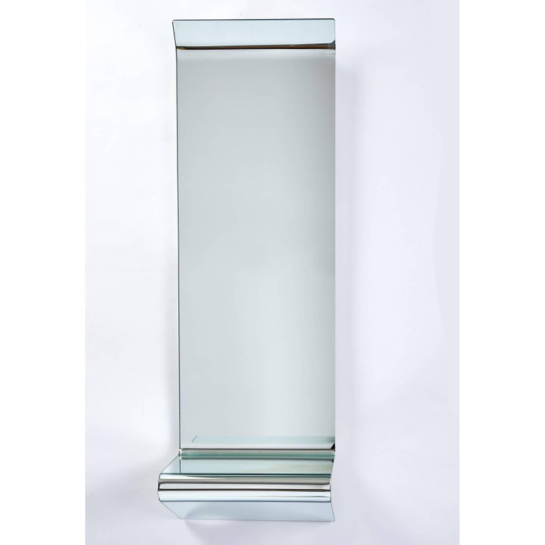 Contemporary Floating Mirrored Console by Fiam Italia For Sale