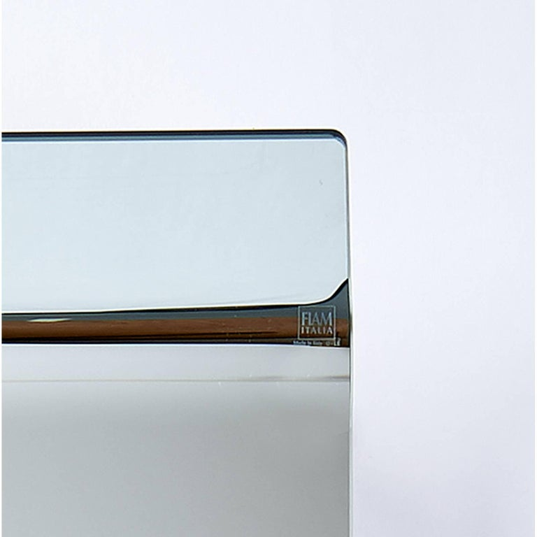 Glass Floating Mirrored Console by Fiam Italia For Sale