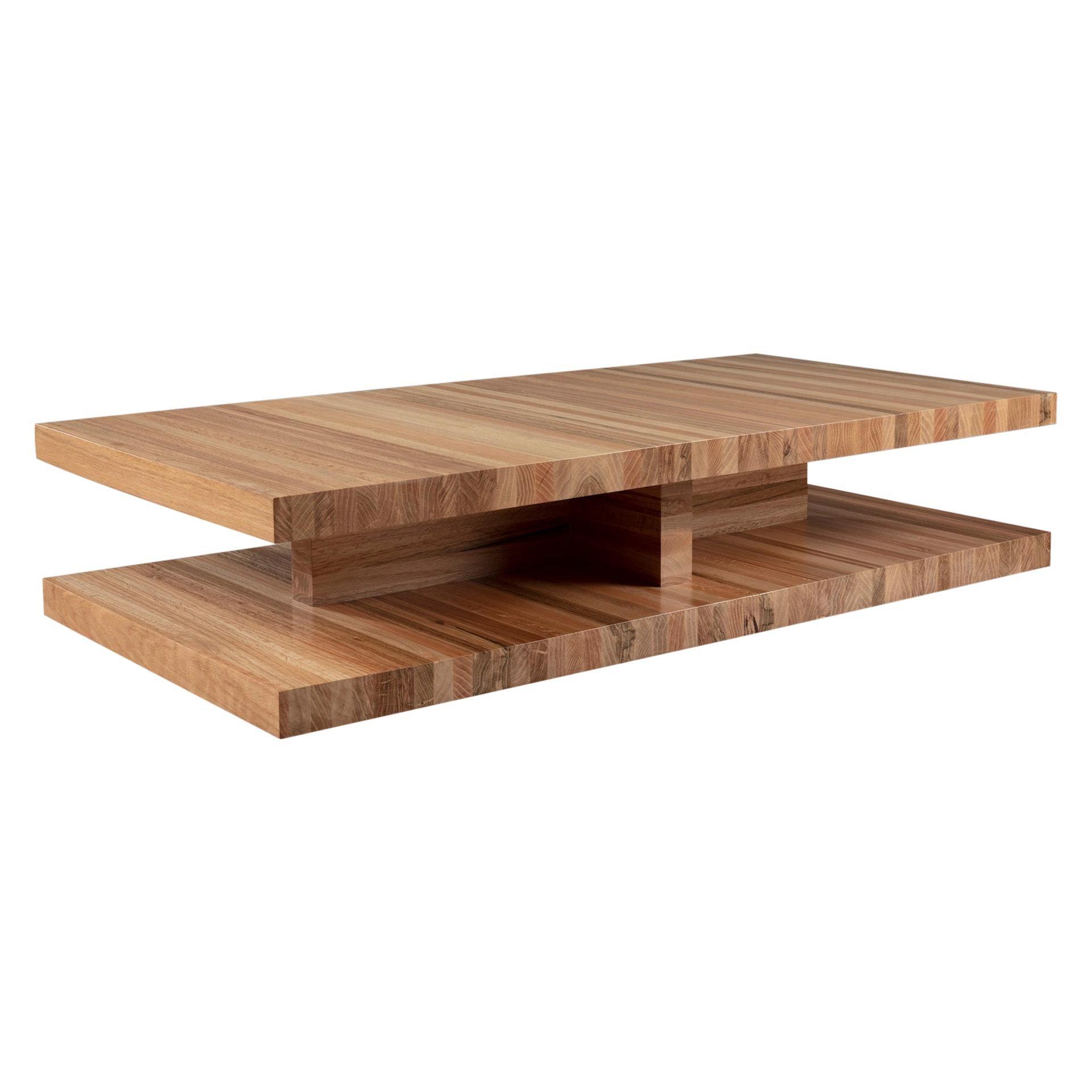 Modern Floating Oak Rectangular / Square Coffee Table