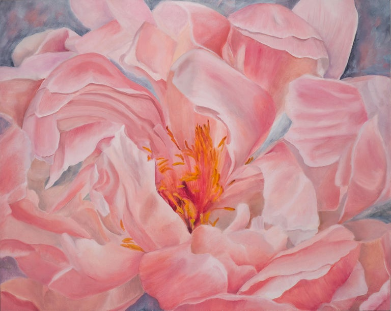Other Floating Peony, Still Life Oil Painting For Sale