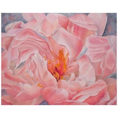 Floating Peony, Still Life Oil Painting