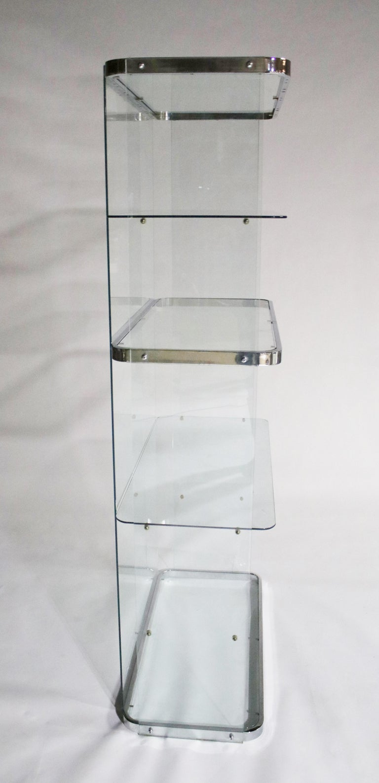 Floating Steel and Glass Etageres For Sale 6