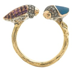 Floaty Scarab Stackable Ring
