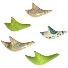 Flock of Italian Ceramic Birds