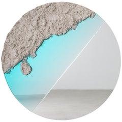 Flood Mirror, Sand, Resin and Mirror by Fernando Mastrangelo