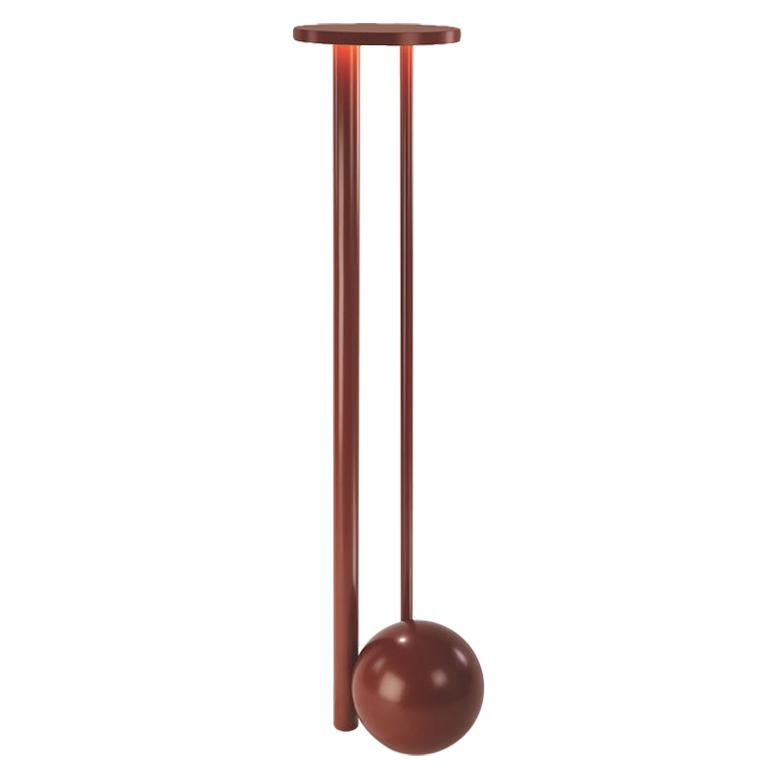 Floor Composition Lamp in Powder-Coated Earthen Red by Michael Anastassiades
