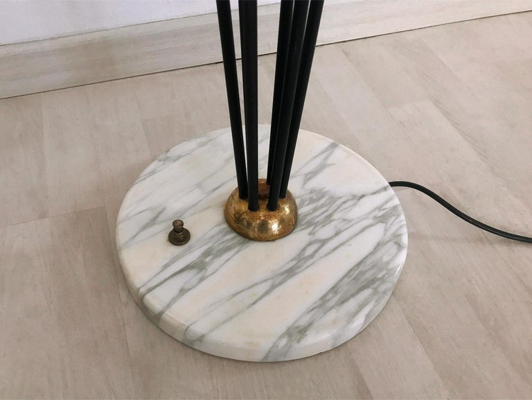 Floor Lamp 'Alberello' by Stilnovo with Six Colored Murano Glass Balls, 1950s For Sale 5
