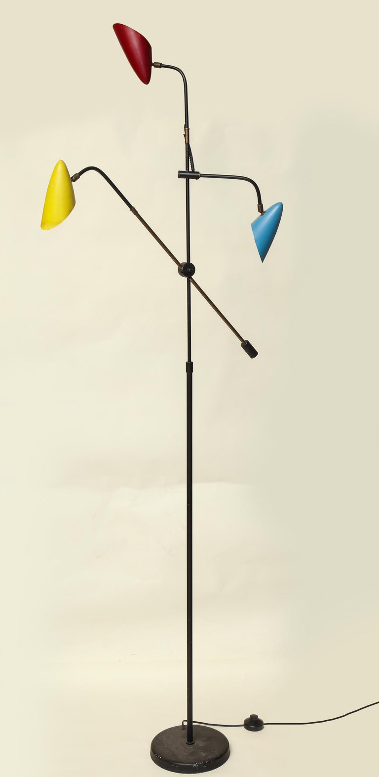 Floor Lamp Articulated Sculptural Mid-Century Modern, France, 1950s For Sale 4