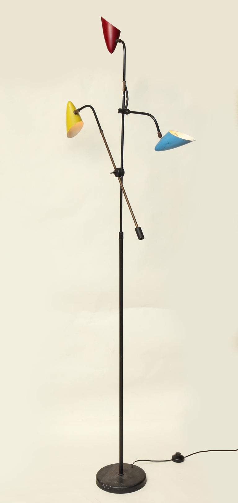 Floor Lamp Articulated Sculptural Mid-Century Modern, France, 1950s For Sale 2