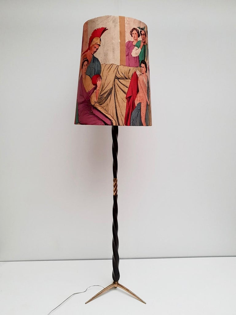 Hollywood Regency Floor Lamp Attributed to Borsani For Sale