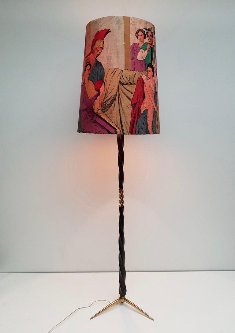 Italian Floor Lamp Attributed to Borsani For Sale