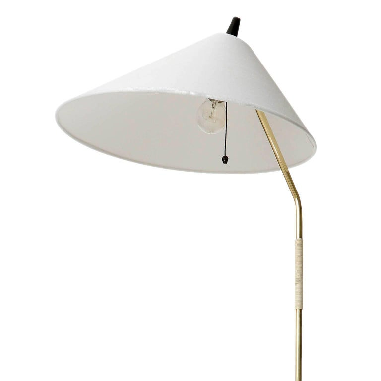 Mid-20th Century Floor Lamp, Brass Black Cast Iron, Austria, 1960 For Sale