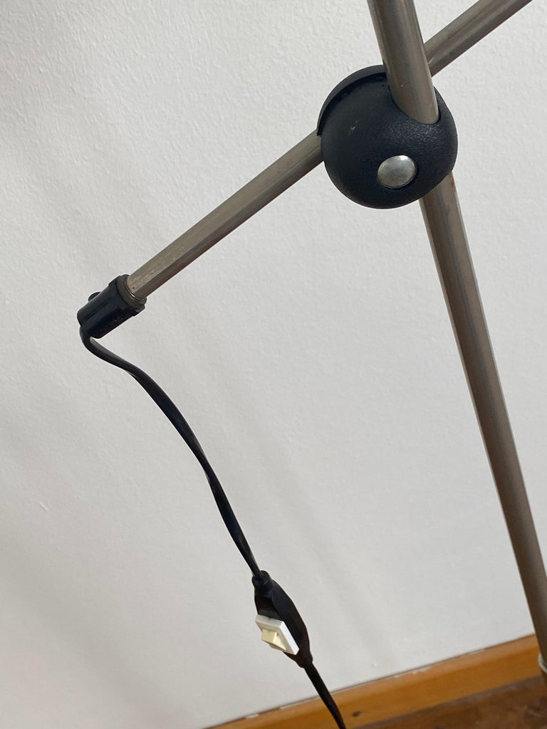 Vintage Bumling floor lamp by Anders Pehrson for Ateljé Lyktan steel lacquered