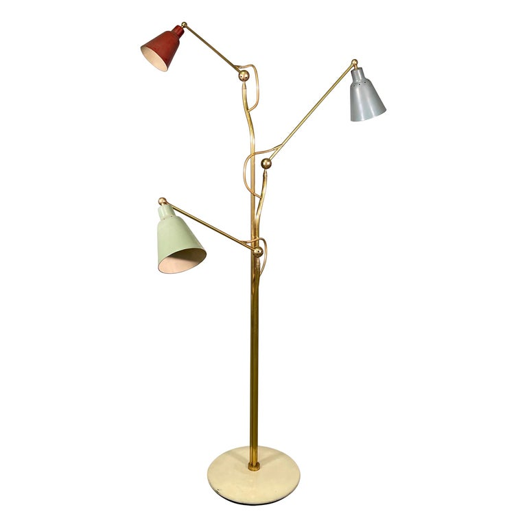 Angelo Lelii for Arredoluce floor lamp, 1950s, offered by Mid Modern Design srl