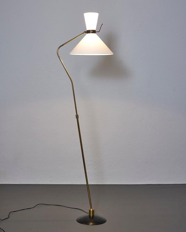 French Floor Lamp by Arlus, France, 1950 For Sale