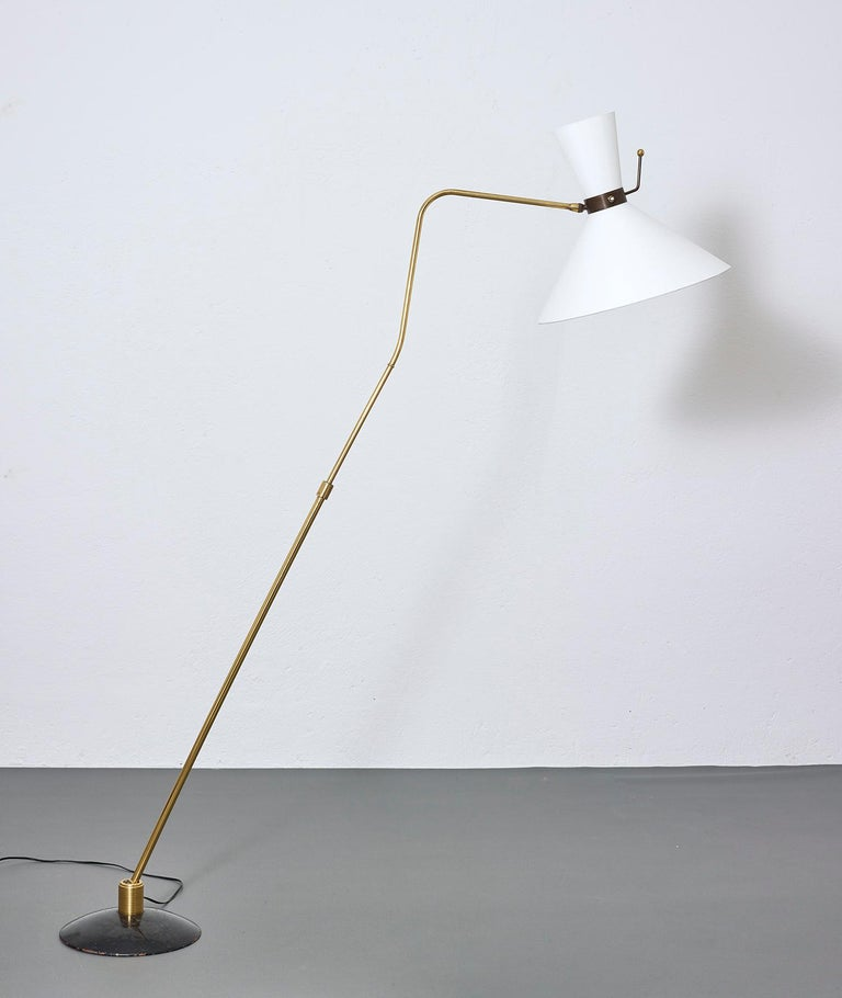 Mid-20th Century Floor Lamp by Arlus, France, 1950 For Sale
