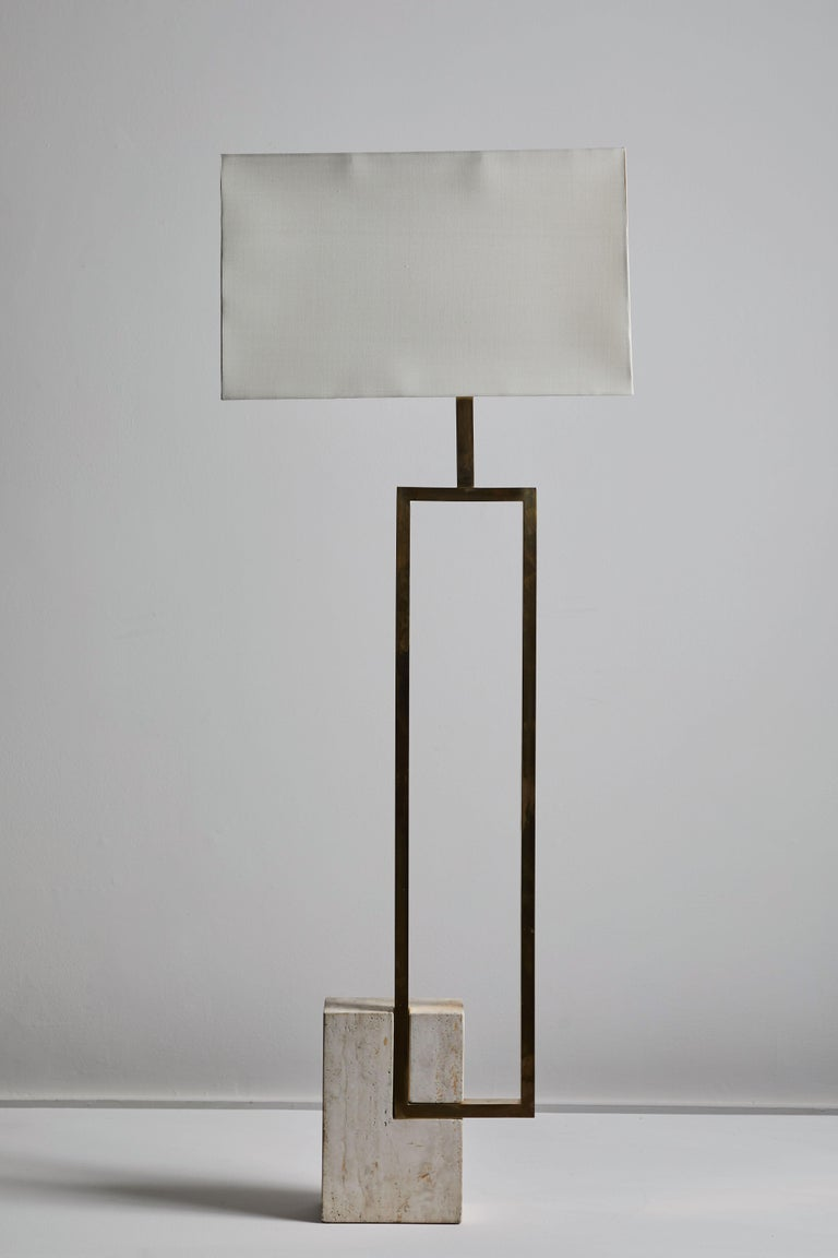 Marble Floor Lamp by Giovanni Banci for Banci Firenze For Sale