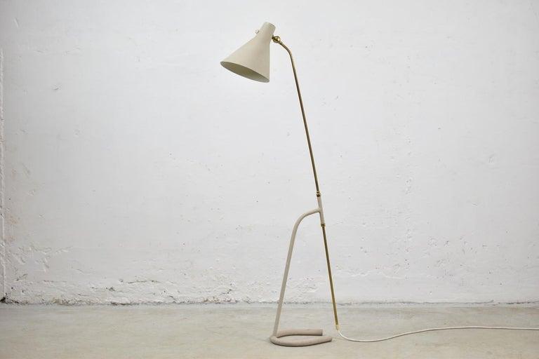 Mid-20th Century Floor Lamp by Hans Bergström for Ateljé Lyktan, Sweden, 1950 For Sale
