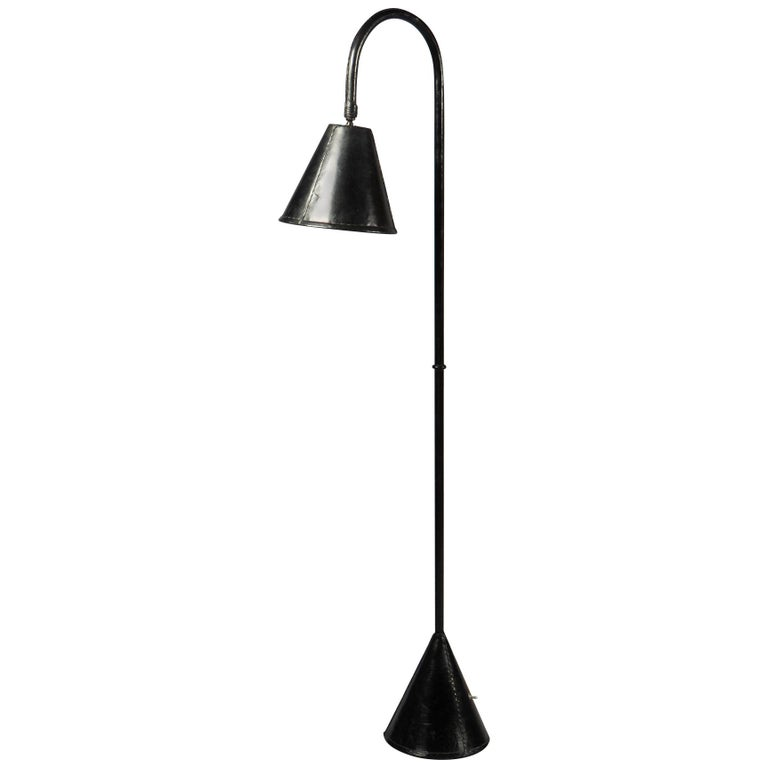 Floor Lamp by Jacques Adnet, France, 1950s For Sale