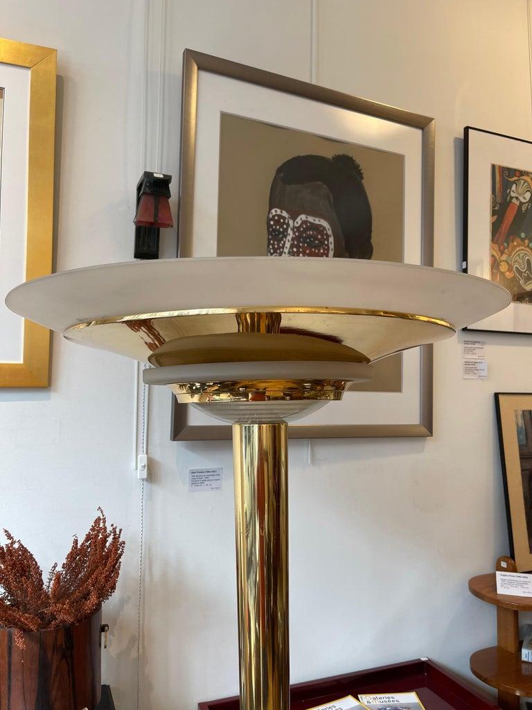 Art Deco Floor Lamp by Jean Perzel, France, Art Déco, 1930's For Sale