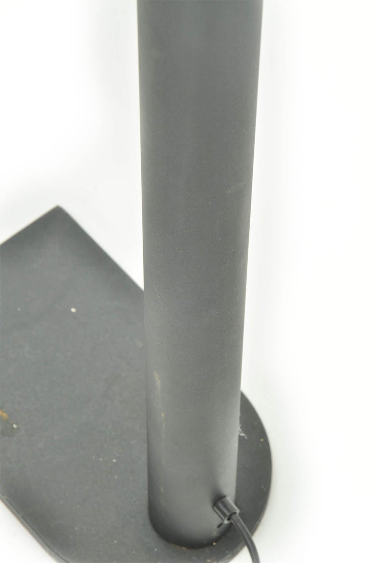 Late 20th Century Floor Lamp by Leucos in Iron with Black Patina, 1980, Italy For Sale