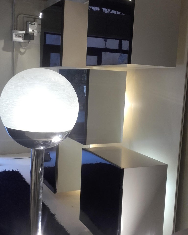 Plated Floor Lamp by Lumi, 1968 Milano  For Sale