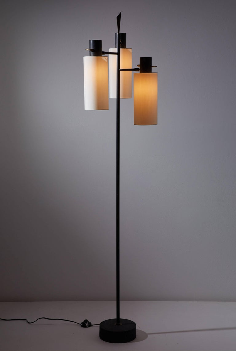 Mid-Century Modern Floor Lamp by Lunel For Sale