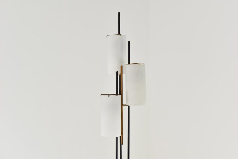 Mid-Century Modern Floor Lamp Attributed by Stilnovo, Italy, circa 1948 For Sale