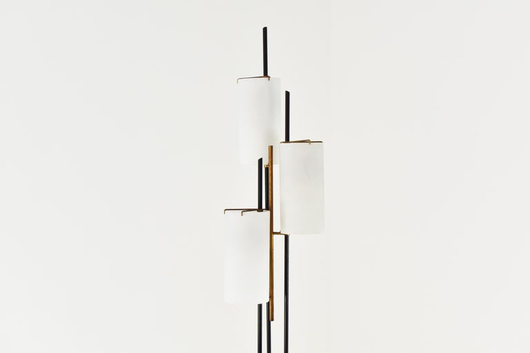 Italian Floor Lamp Attributed by Stilnovo, Italy, circa 1948 For Sale