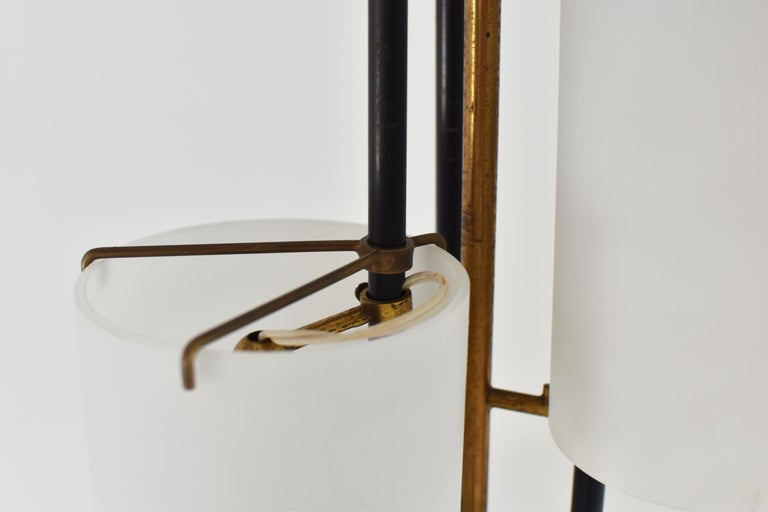 Brass Floor Lamp Attributed by Stilnovo, Italy, circa 1948 For Sale