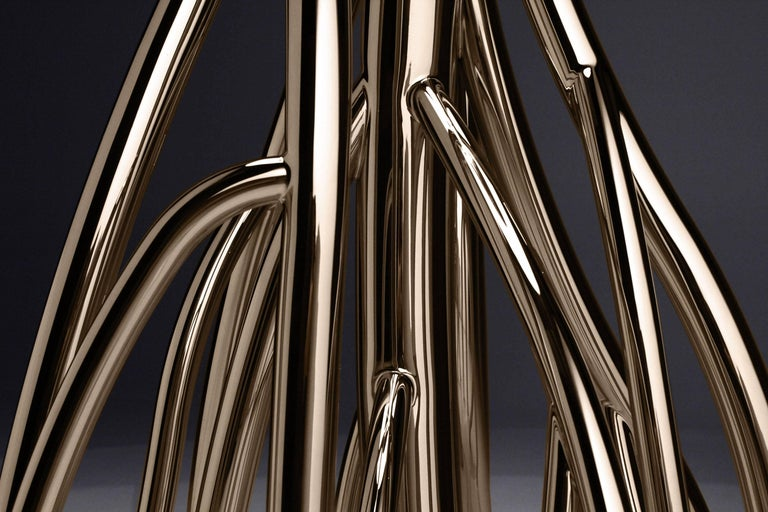 Floor Lamp Contemporary Design Golden Steel Italian Limited Edition Design For Sale 3