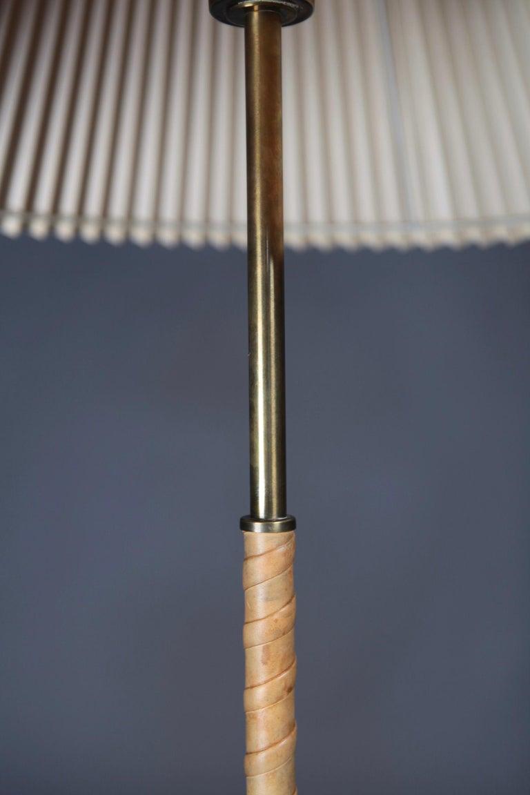 Swedish Floor Lamp Designed by Harald Elof Notini for Böhlmarks, Sweden, 1940s For Sale