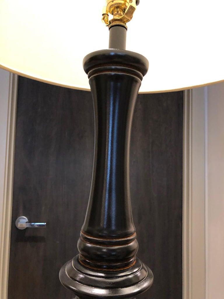 Woodwork Floor Lamp For Sale