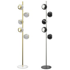 Floor Lamp in Brass and Gold Details