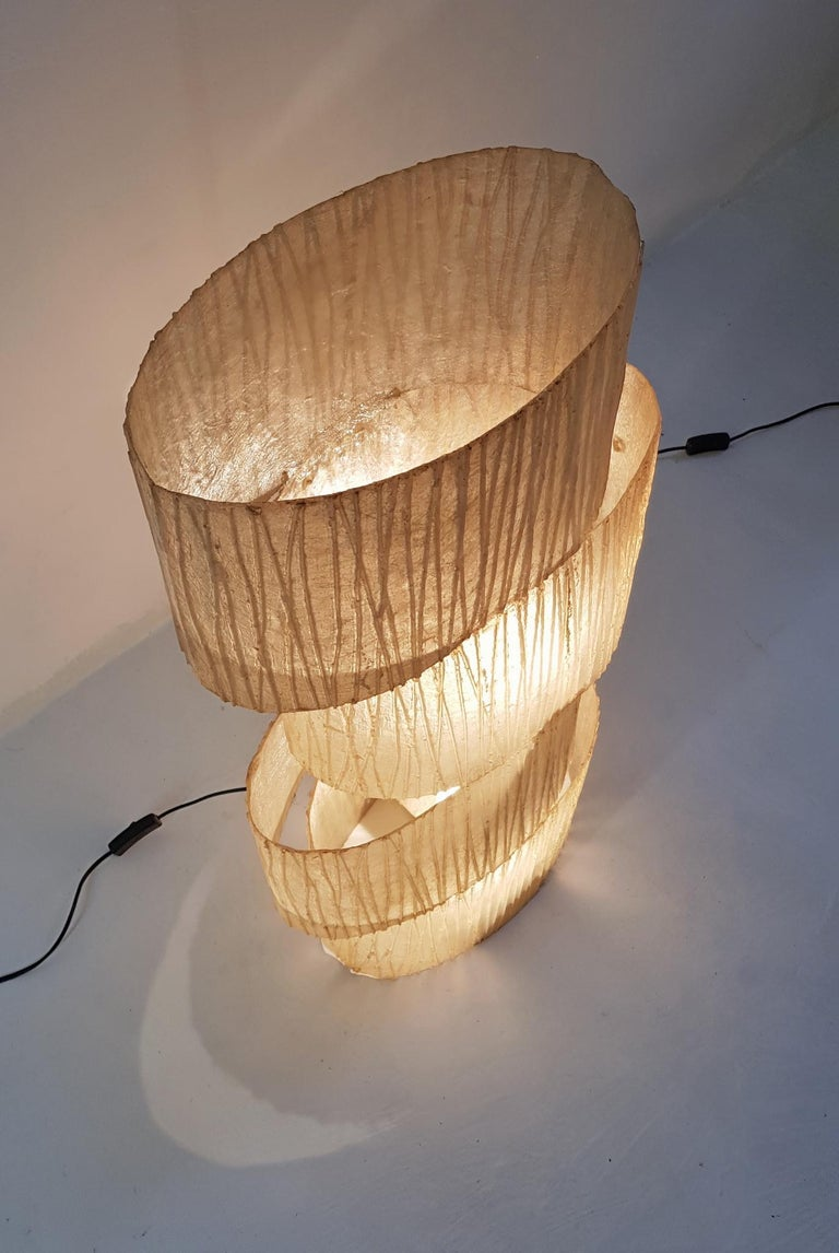 Floor Lamp In Fiberglass Italy At 1stdibs