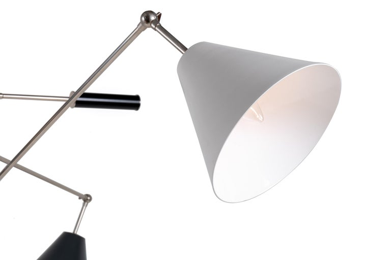 Italian Floor Lamp in the Style of Angelo Lelli's Triennale, Italy, 2011 For Sale