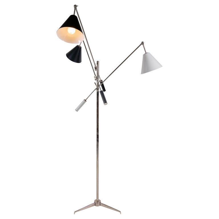 Floor Lamp in the Style of Angelo Lelli's Triennale, Italy, 2011 For Sale
